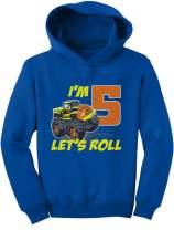 Tstars Birthday Gift for 5 Year Old Boy Truck 5th Birthday Boys Toddler Hoodie