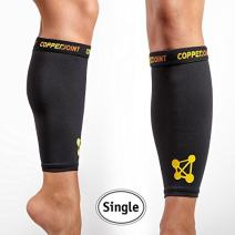 CopperJoint Calf Compression Sleeve – Copper-Infused Design, Promotes Proper Blood Flow, Offers Compression and Support for All Lifestyles - Single
