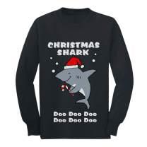 Christmas Shark Doo doo Ugly Xmas Holiday Youth Kids Long Sleeve T-Shirt