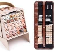 Arrtx ALP Skin Tone Markers 36 Colors + 29 Pieces Professional Sketching Pencil Kit