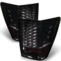 For 05-06 Jeep Grand Cherokee SUV Smoke LED Tail Lights Brake Lamps Replacement Pair Left + Right