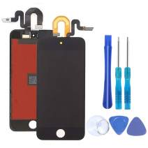 Compatible with iPod Touch 5th 6th 7th Generation Screen Replacement LCD Screen with Free Repair Tools (Touch 5/6/7 Black)