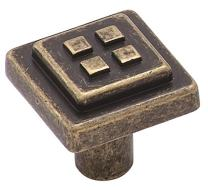 Amerock BP4454R2 Forgings 1-1/8 in (29 mm) Length Weathered Brass Cabinet Knob