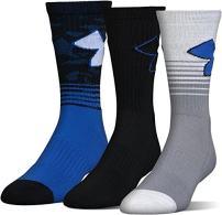 Under Armour Adult Phenom Logo Crew Socks, 3-Pairs