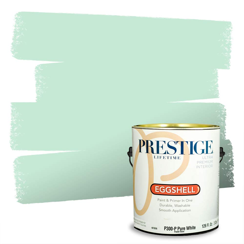 Prestige, Greens and Aquas 4 of 9, Interior Paint and Primer In One, 1-Gallon, Eggshell, Wandering
