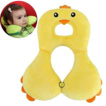 Toddler Travel Pillow - Infant Head & Neck Support - Comfortable Headrest to Relieve Neck Fatigue - for 6-24 Months Babies, Toddlers, Infants (Yellow)