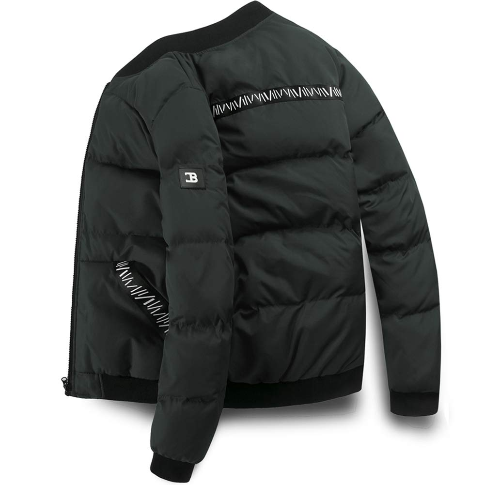 MADHERO Men's Puffer Jacket Insulated Down Alternative Outerwear Coats