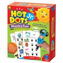 Educational Insights Hot Dots Jr. Phonics Fun Set, 160 Lessons, Homeschool, Interactive Pen Included, Ages 3+