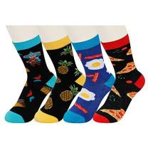 HAPPYPOP Boy's Dinosaur Novelty Funny Crew Socks Crazy Animal Gift Box Design