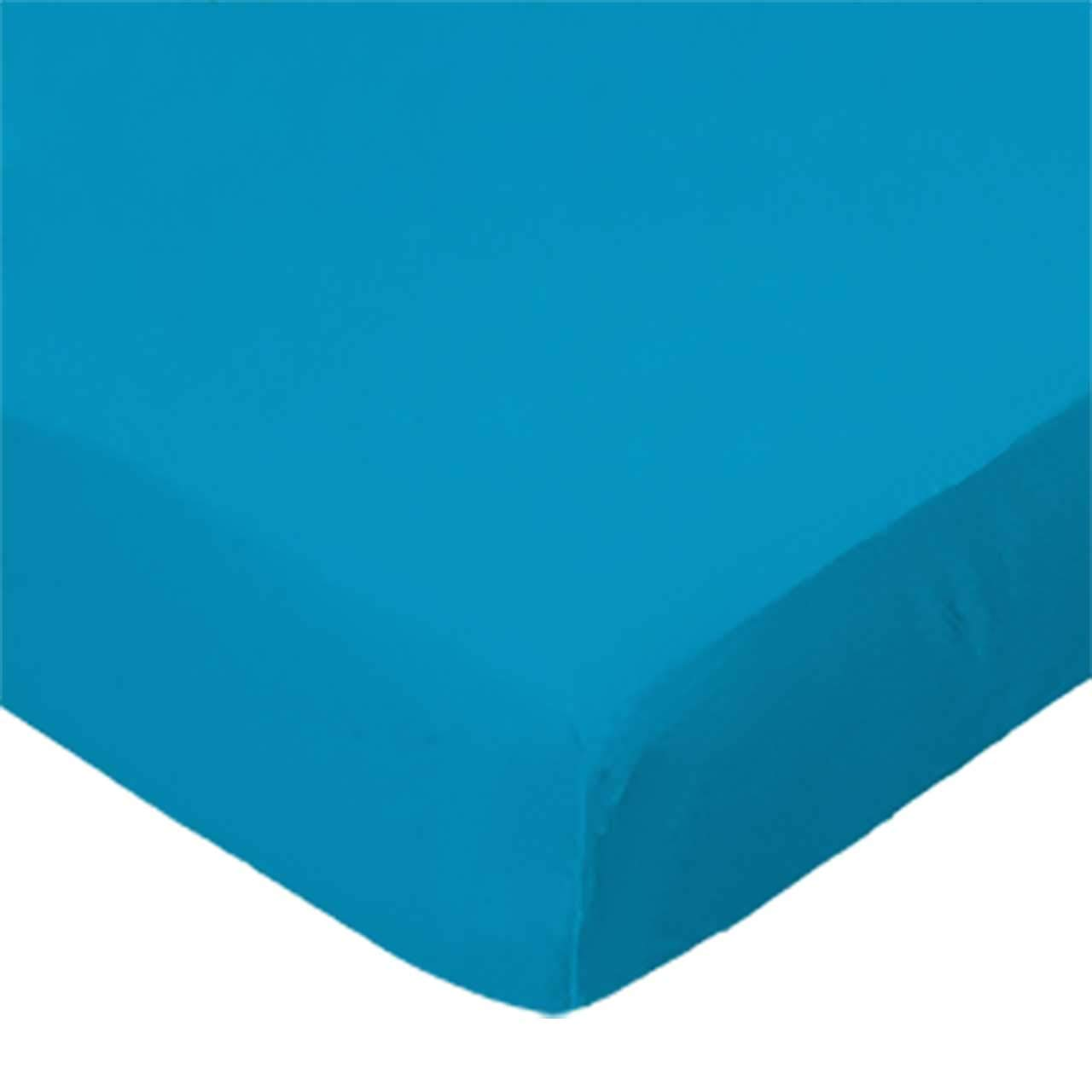 SheetWorld Fitted Portable / Mini Crib Sheet - Turquoise Jersey Knit - Made In USA