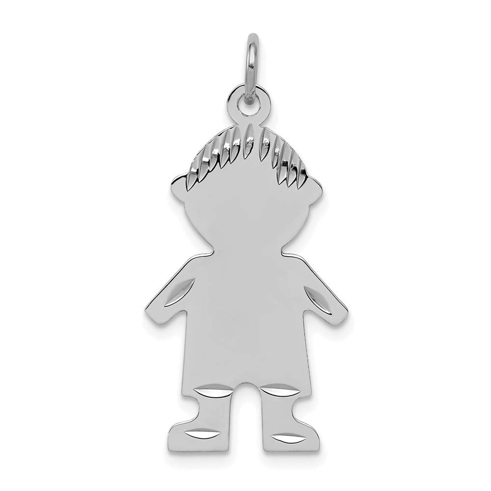 925 Sterling Silver Engravable Boy Disc Pendant Charm Necklace Baby Fine Jewelry For Women Gifts For Her