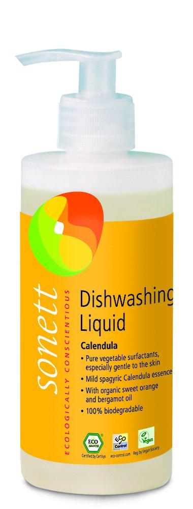 Sonett Organic Dishwashing Liquid Calendula, Lemon 10 oz and 33.8 oz (Calendula, 10 Fl.Oz (1 Count))