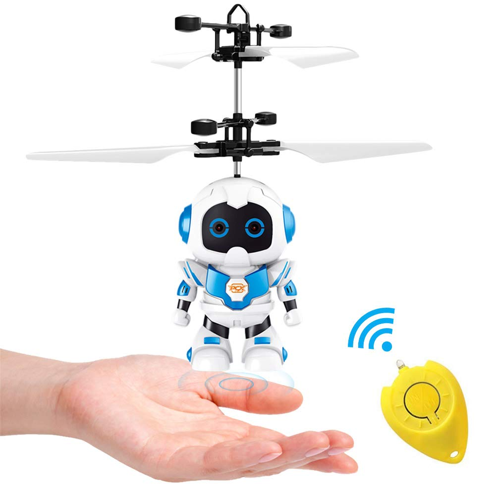 SubClap Flying Ball Toy,Hand-Controlled Drone Boy RC Flying Toys with LED Light Induction Remote Control for Kids Boys Birthday Gift(Flying Robot)