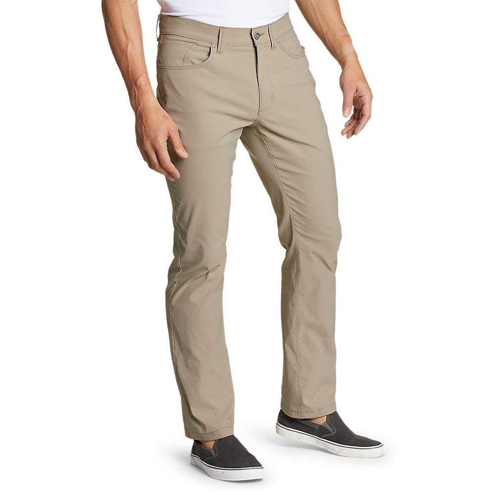 Eddie Bauer Men's Horizon Guide Five-Pocket Pants - Straight Fit, Lt Khaki Tall