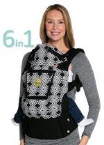 LÍLLÉbaby Complete Original 6-in-1 Ergonomic Baby & Child Carrier, Black/Soho - 100% Cotton