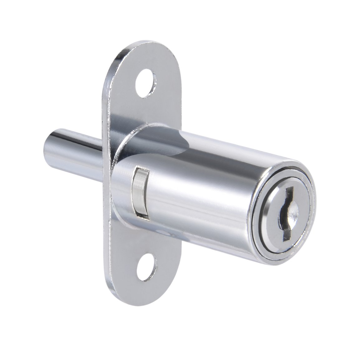 uxcell Plunger Lock, Keyed Different, 3/4-inch 19mm Cylinder Track Push