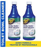 Zep Acidic Toilet Bowl Cleaner 32 oz ZUATB32 (Pack of 2) - Thick pro Formula clings to Tough Stains