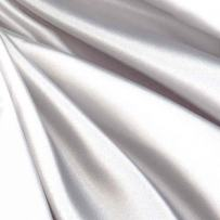 Logantex STR-104 Debutante Stretch Satin Bright White Fabric by The Yard