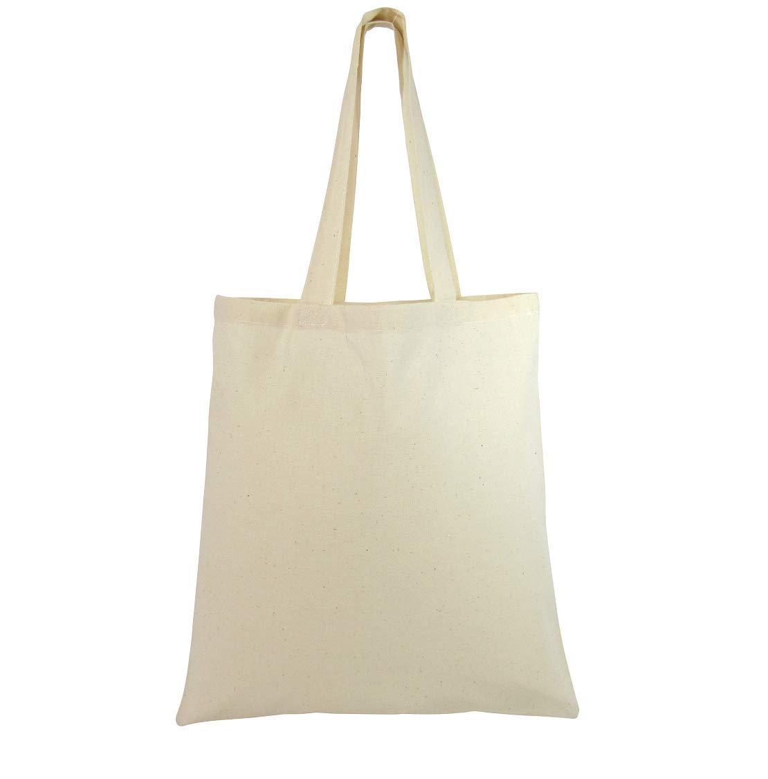 Natural Cotton Canvas Tote Bags Bulk Plain Fabric for Crafts, DIY, Vinyl, Decorate, Shopping, Groceries, Teacher, Books, Gifts, Welcome Bag, Diaper Bag, Beach (Natural, 12)