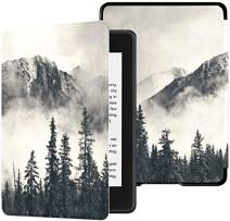 Colorful Star Smart Case for Kindle Paperwhite 10th Generation 2018 - PU Leather Kindle Paperwhite Covers for All-New Kindle Paperwhite 4 - Smoky Mountain Cliff