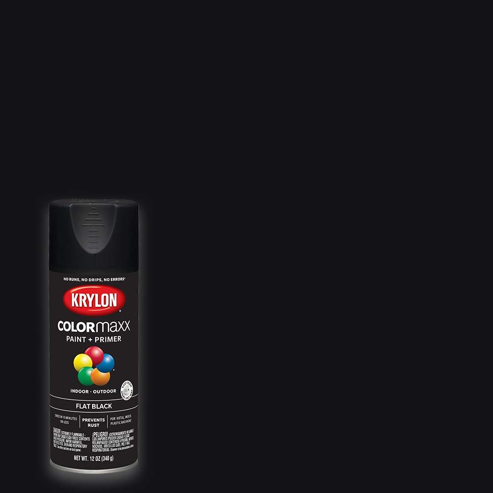Krylon K05546007 COLORmaxx Spray Paint, Aerosol, Black