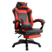 KKTONER Ergonomic Gaming Chair for E-Sport Racing Computer Swivel Height Adjustable with Armrest High Back Headrest and Lumbar Support (red)