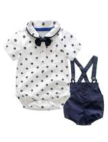 Abolai Baby Boys Toddler Clothing Sets Rompers Tops + Shorts 2PCs Outfit