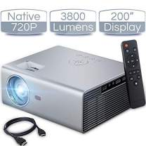 """iCODIS T400 Video Projector, Full HD 1080P Supported, 3800 Lux Mini Projector with 50,000 Hrs, 200"""" Display Home Theater Movie Projector, Compatible with Fire TV Stick/ Smartphone/ PS4/ PC /HDMI / USB"""