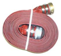 "JGB Enterprises A008-0241-1650 Eagle Hose Eagleflo Eagle PVC Discharge Hose Assembly, Red, 1.5"" Male X Female Water Shanks , 200 PSI Max Pressure, 1.5"" Hose ID, 50' Length"