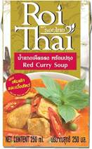ROI THAI, Ready to cook, Thai Red curry soup, Curry sauce, Simmer sauce, Instant curry sauce, Curry paste with coconut milk, Thai food, 8.4 OZ (Pack of 1)