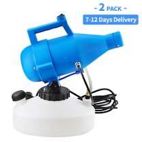 Newbyinn Electric ULV Fogger Disinfectant Machine, 110 Volt Portable Sprayer Machine for Indoor Outdoor Garden 152oz (2 PCS)