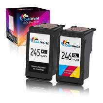 ColoWorld Remanufactured 245XL Ink Cartridge Replacement for Canon 245 XL PG-245XL CL-246XL to Use with Used in Canon Pixma MX490 MX492 MG2920 MG2520 MG2420 MG2522 MG2922 Printer (1 Black, 1 Color)