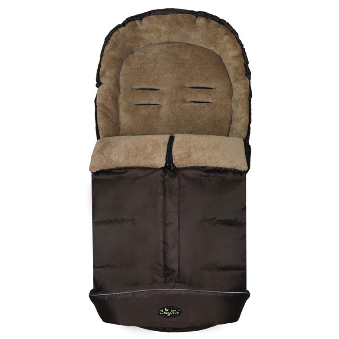 Height Adjustable Cozy Baby Footmuff, Universal Stroller Sleeping Bag, Fits Most of Strollers Pushchair and Joggers, Extendable, Adaptable,Convertibale,Coffee