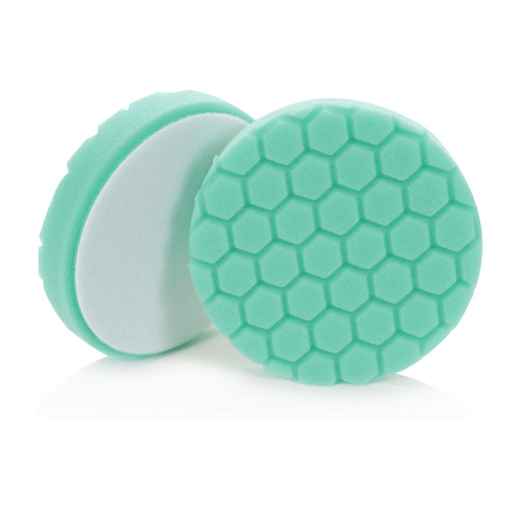 Chemical Guys BUFX_103_HEX4 Hex-Logic Heavy Polishing Pad, Green (4.5 Inch Pad made for 4 Inch backing plates)