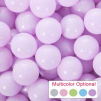 PlayMaty Pack of 50 Macaron Ball Pit Plastic Ball Kids Swim Pit Fun Toy 50 Pieces Phthalate Free BPA Free Balls with Storage Bag for Baby Playhouse Pool Birthday Party Decoration (Light Purple)
