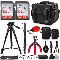 """Ultimate DSLR Camera Accessories Kit, a Great Accessory Bundle for Professional and Amateur Photographers, Includes: 256GB SD Memory, Premium Camera Case, 72"""" Tripod/Monopod + More"""