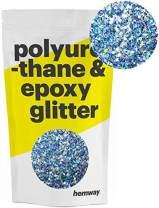 Hemway | Mixed Chunky Polyurethane & Epoxy Glitter - Silver Blue Ice Holographic / 100g