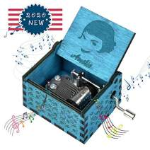 fezlens Wood Music Boxes Amelie Antique Engraved Wooden Musical Box Gifts for Birthday/Christmas/Valentine's Day/Thanksgiving Days Hand-Operated Present Kid Toys £¨Blue£