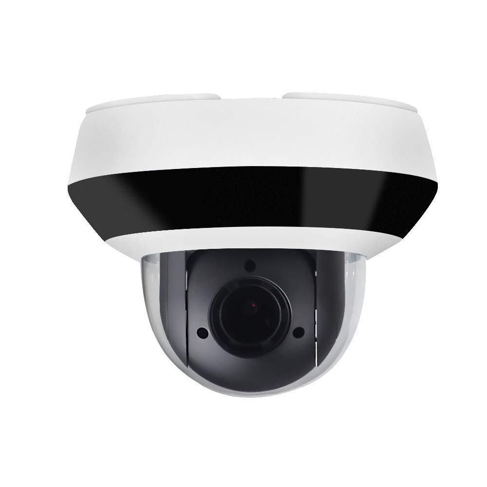 4MP Mini PTZ Security IP Camera Dome,OEM DS-2DE2A404IW-DE3,4X Optical Zoom 2.8mm~12mm,Surveillance Camera Dome with IR Night Vision 66ft,SD Recording,Audio Input Output,IP66,IK10,H.265+