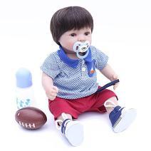 "OtardDolls 20"" Reborn Baby Dolls,Lifelike Realistic Cute Reborn Dolls,Soft Vinyl Newborn Baby Children Ages 3+ (Girl with Football)"
