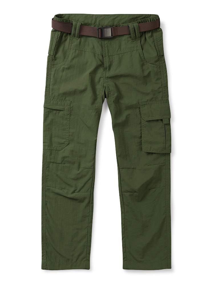 Mesinsefra Kids' Cargo Pants,Boy's Casual Outdoor Quick Dry Waterproof Hiking Climbing Trousers