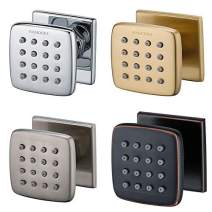 RANDOM Shower Spa Brass Square Massage Body Jets Spray Body Shower Set,Brushed Nickel,Chrome,Oil Rubbed Bronze,Brushed Gold. (Brushed Gold 6 pcs)