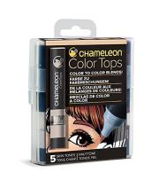 Chameleon Art Products, Skin Tones, Color Tops, Quick and Easy Blending - Set of 5