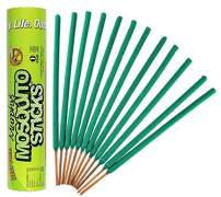 Murphy's Mosquito Sticks | Plant Based DEET Free Insect Repellent Incense Sticks | Bamboo Infused w/Citronella, Lemongrass & Rosemary | 12 Sticks per Tube