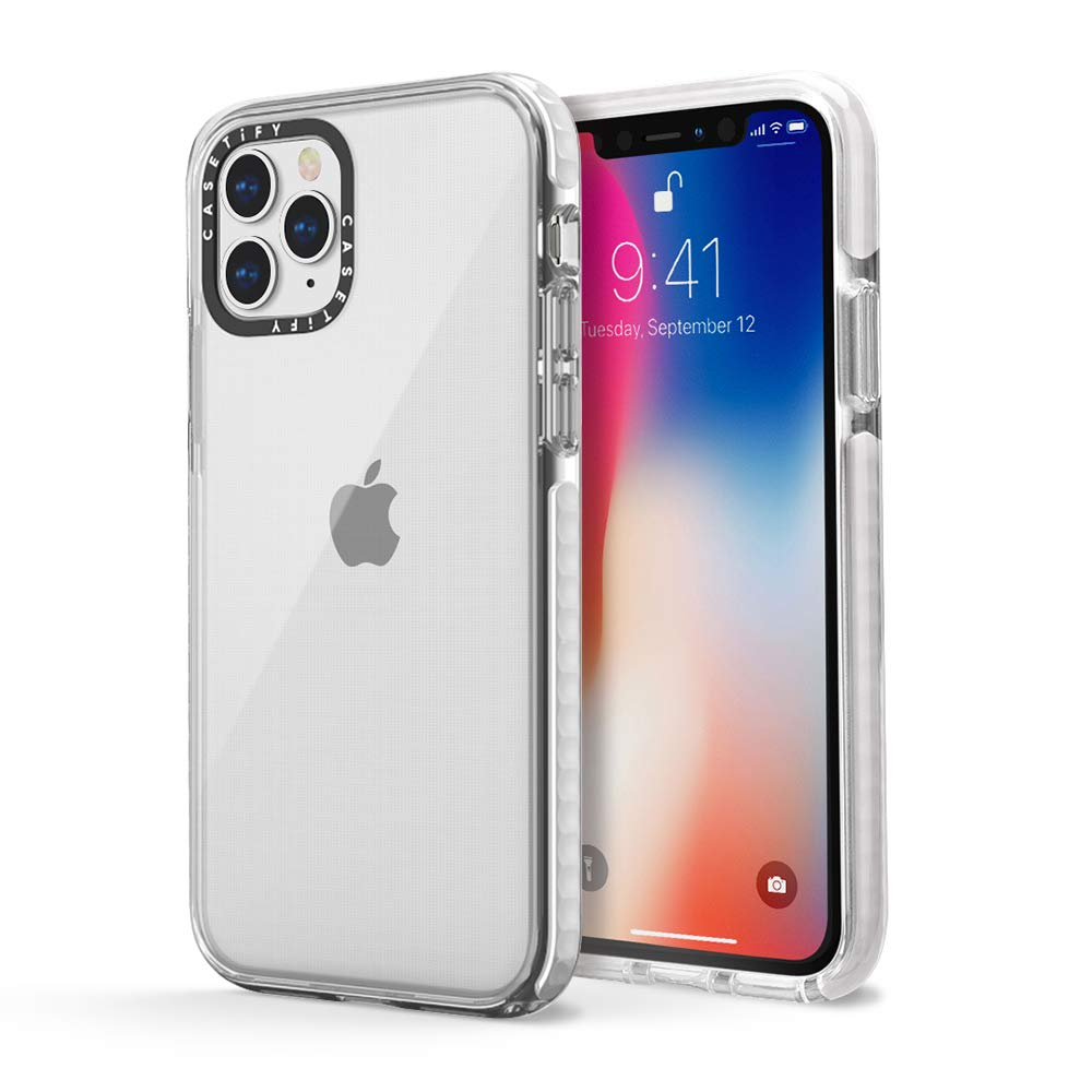 Casetify Impact Case, Military-Grade Dual-Layer Shockproof Protective Case for iPhones, iPhone 11 Pro, White
