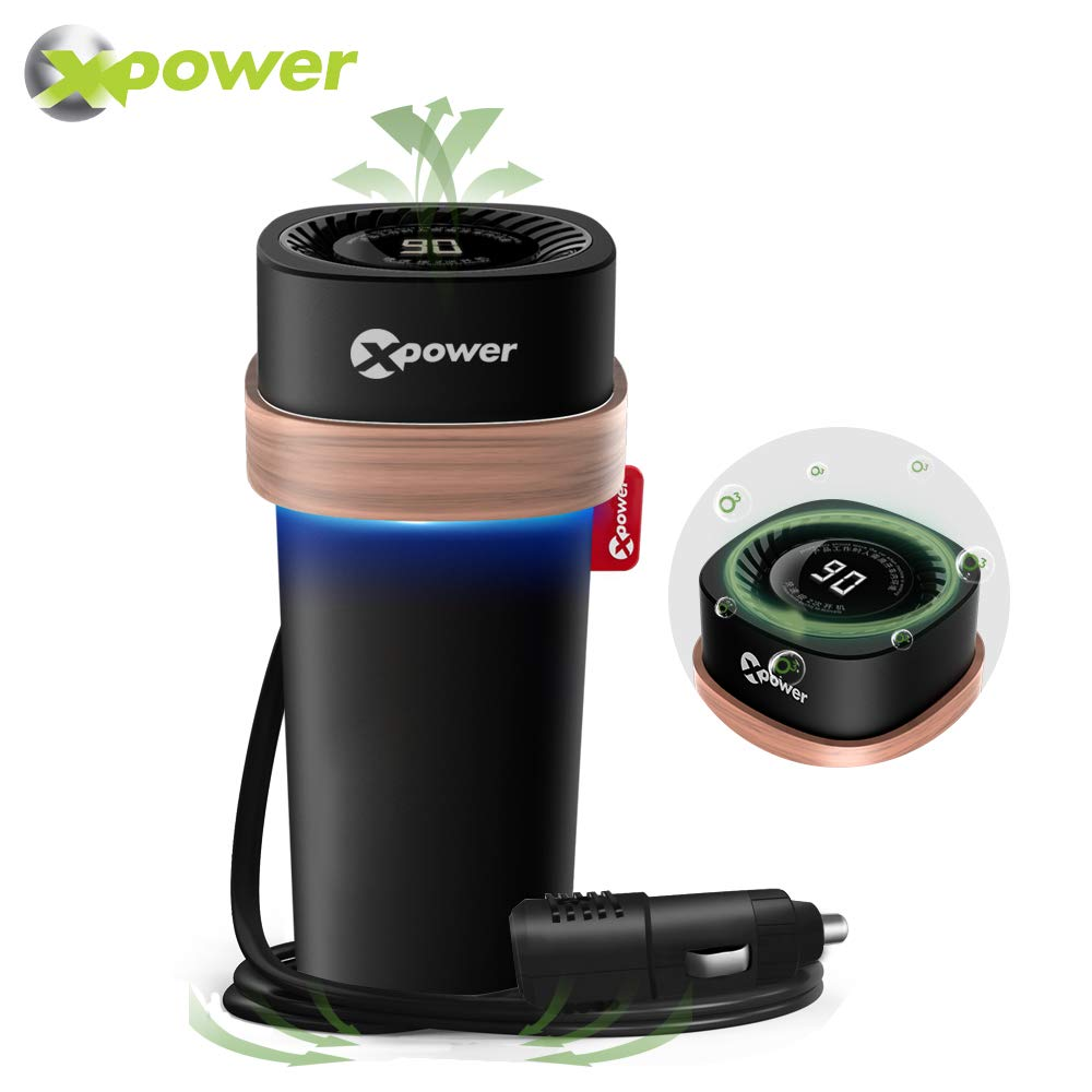 Car Deodorizer Ozone Generator Mini Portable Ozone Machine 500g/h O3 Air Purifier Deodorizer Sterilizer, Elimination; Pollutants, Allergens, Air Irritants, Mold, Bacteria, Pet Dander & More