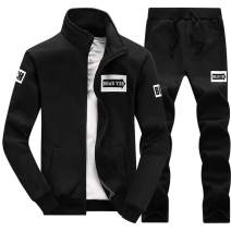 Men 2 Piece Tracksuit Set - Full Zip Athletic Sweatsuit Outfit Jogger Running Sport Set
