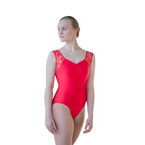 HDW DANCE Women Ballet Dance Leotard Bodysuit Sleeveless Nylon Lycra and Lace