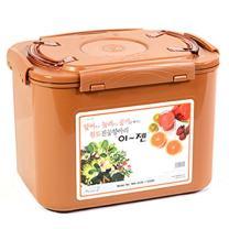 E-Jen Premium Kimchi, Sauerkraut Container Probiotic Fermentation with Inner Vacuum Lid (Earthenware Brown, 3.1 gal/ 12L)
