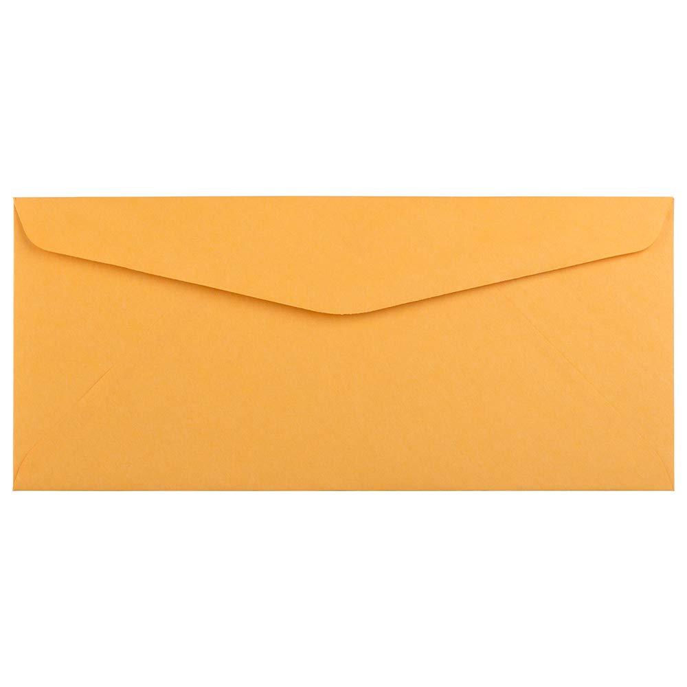 JAM PAPER #10 Business Commercial Envelopes - 4 1/8 x 9 1/2 - Brown Kraft Manila - Bulk 250/Box